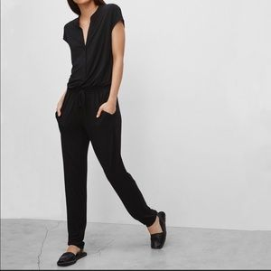 Aritzia Babaton Donnie Black Knit Jumpsuit M